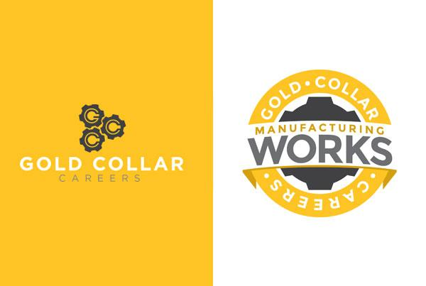 Manufacturing Works / Gold Collar Careers Logo