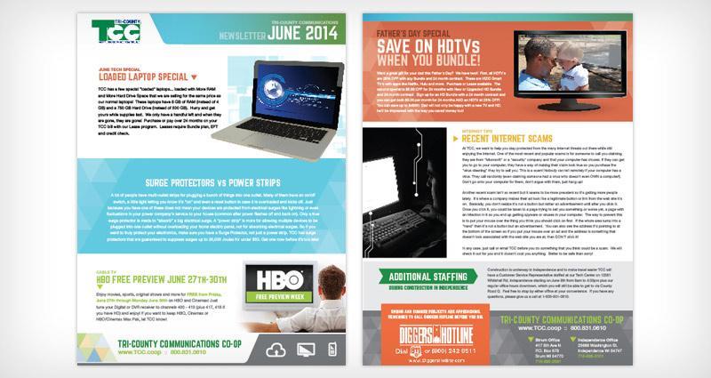 TCC Newsletter Redesign - Satellite Six