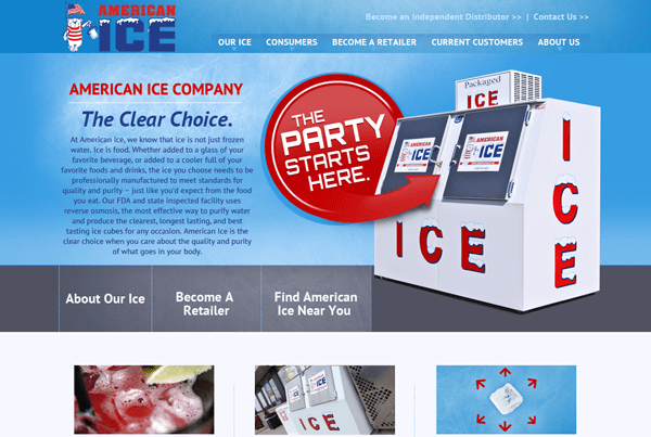 American Ice, Co. Website