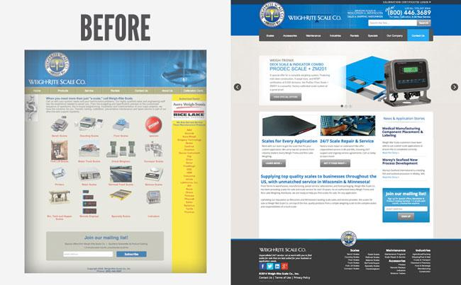 Weigh-Rite Scale Co. Website Redesign