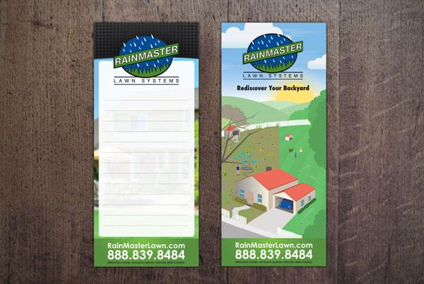 RainMaster Lawn Door Hanger Illustration