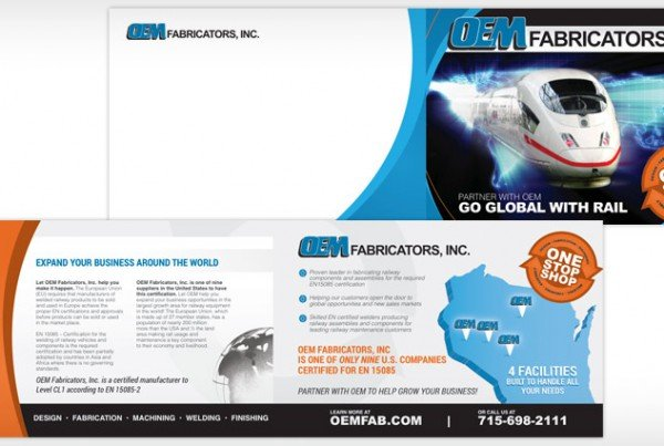 OEM Fabricators Rebranding, Print Design, Graphic Design Eau Claire, WI - Satellite Six