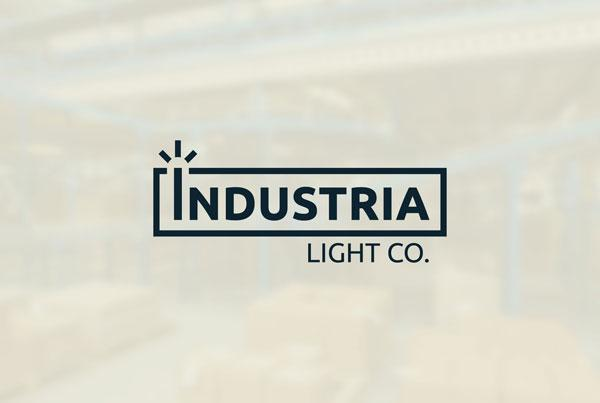 Industria Light Co Logo Design