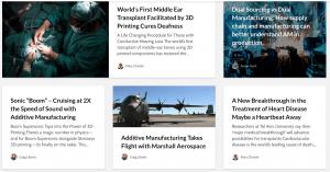 manufacturing blog on a website