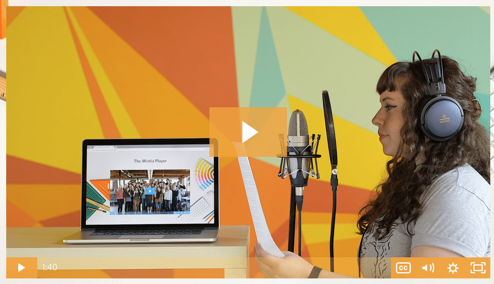 video player customization on Wistia