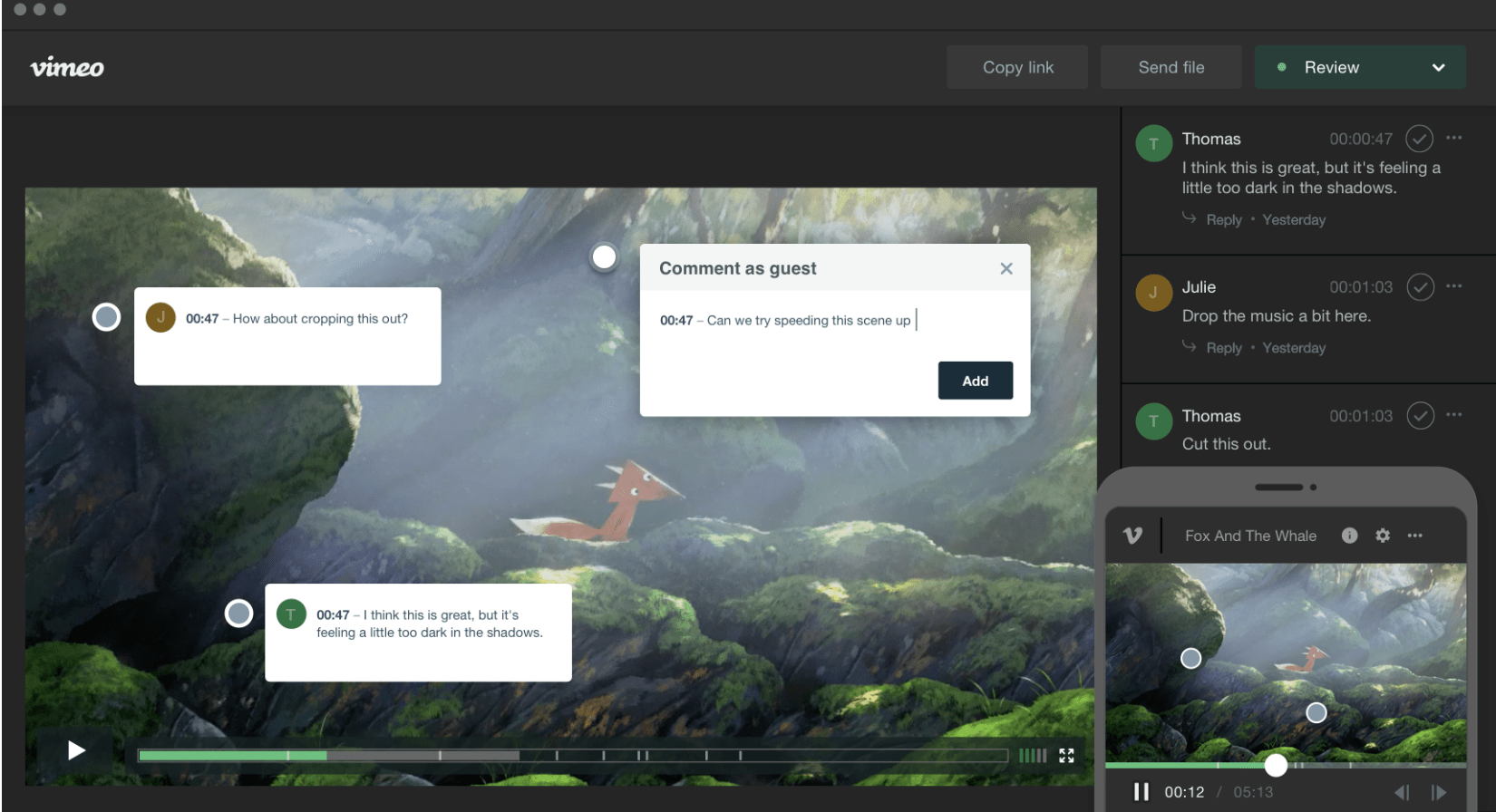 Vimeo collaboration tool