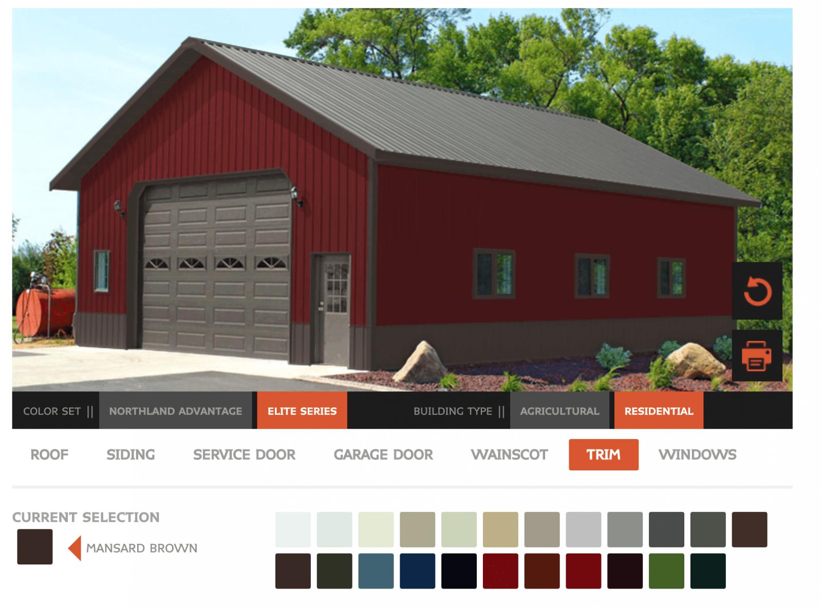 color visualizer on a post frame website